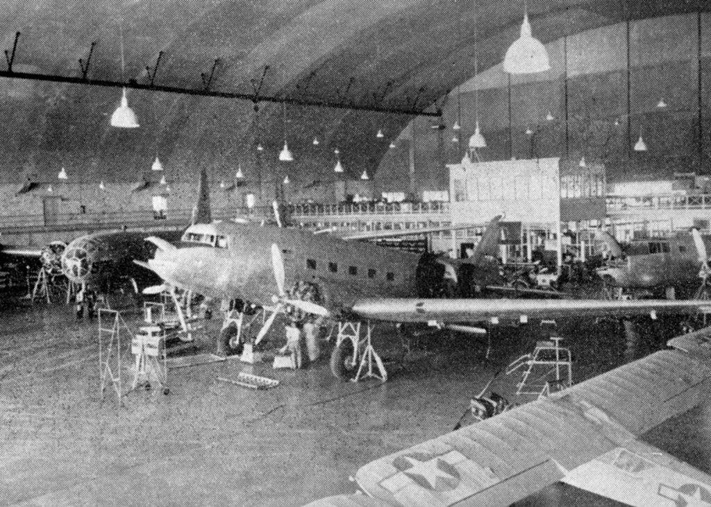 B-29, B-25 AND C-47 UNDERGO MAINTENACE INSIDE HANGAR 3 OF BORINQUEN FIELD 1945