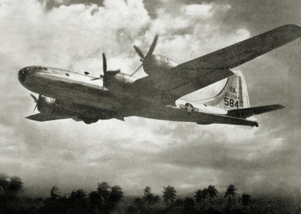 GYPSY TASK FORCE B-29 TAKING OFF AT BORINQUEN FIELD 1945