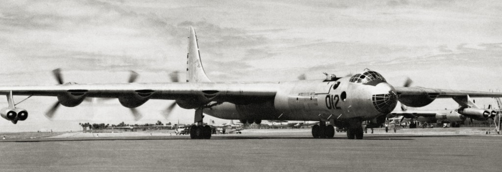 RB-36 44-92012 APPROACHING CHARLIE AREA AT RAMEY AIR FORCE BASE 1954