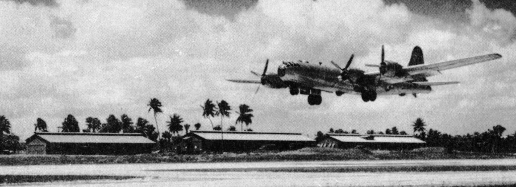 GYPSY TASK FORCE B-29 COMING IN FOR A LANDING AT BORINQUEN FIELD 1945