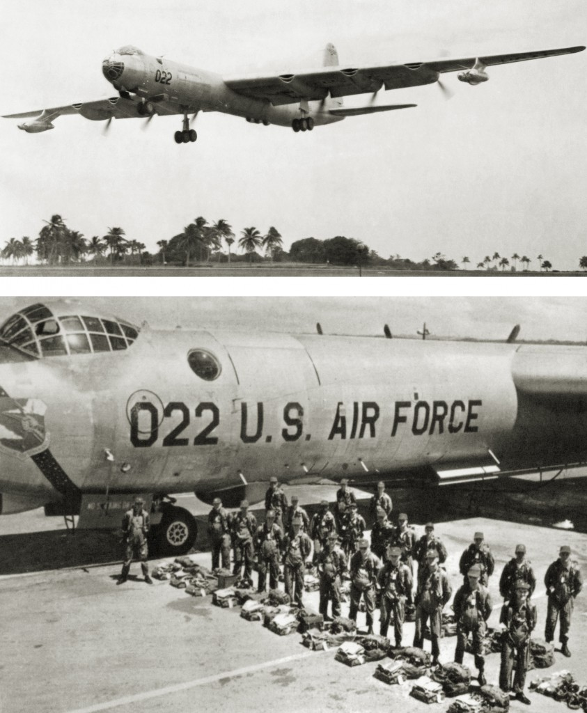RB-36 44-92022 AND CREW AT RAMEY AIR FORCE BASE 1954