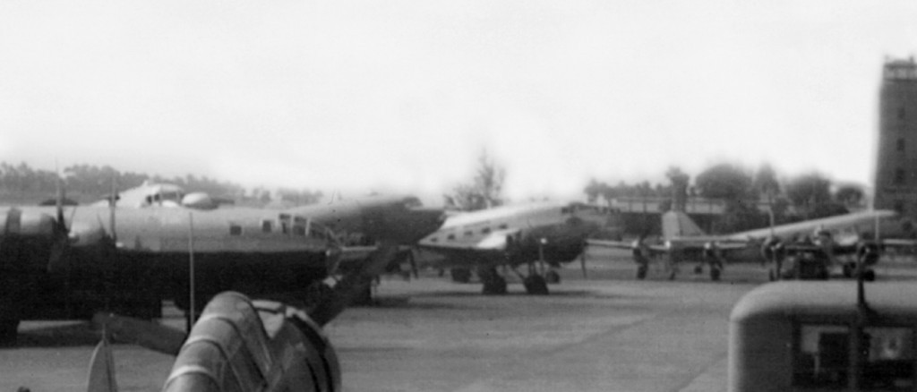 B-29, B-25, P-38 AND C-47 AT BORINQUEN FIELD 1945