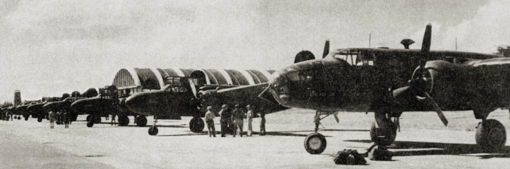A-20 HAVOC AND B-25 MITCHELL AT BORINQUEN FIELD 1942