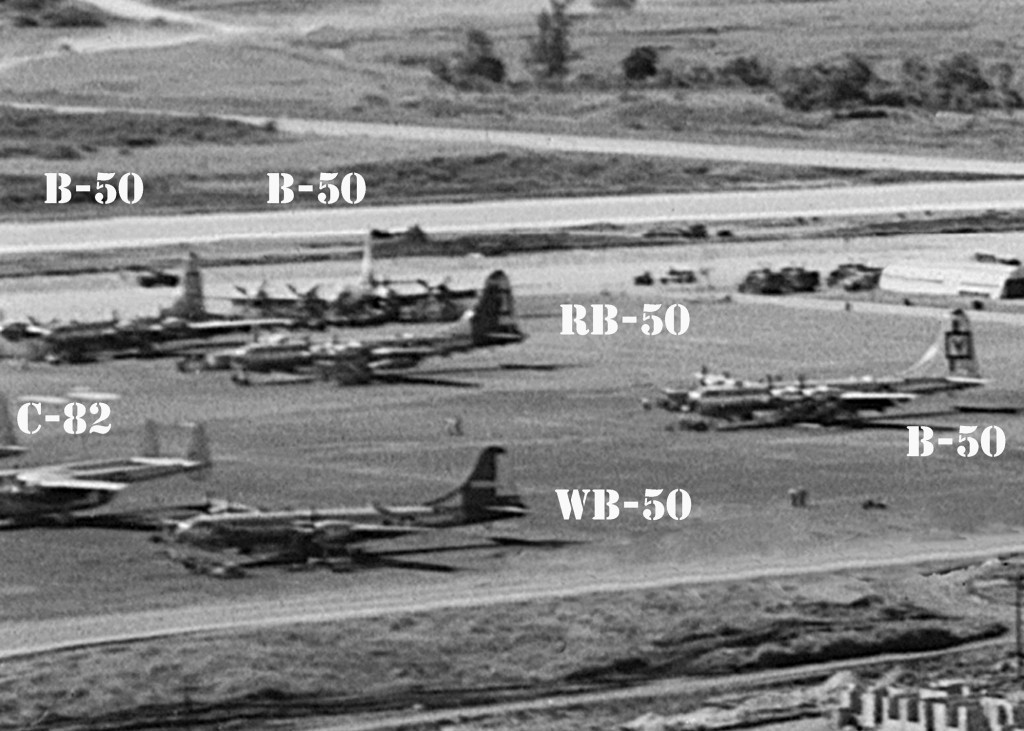 B-50, RB-50, WB-50 AND C-82 AT RAMEY AIR FORCE BASE 1952