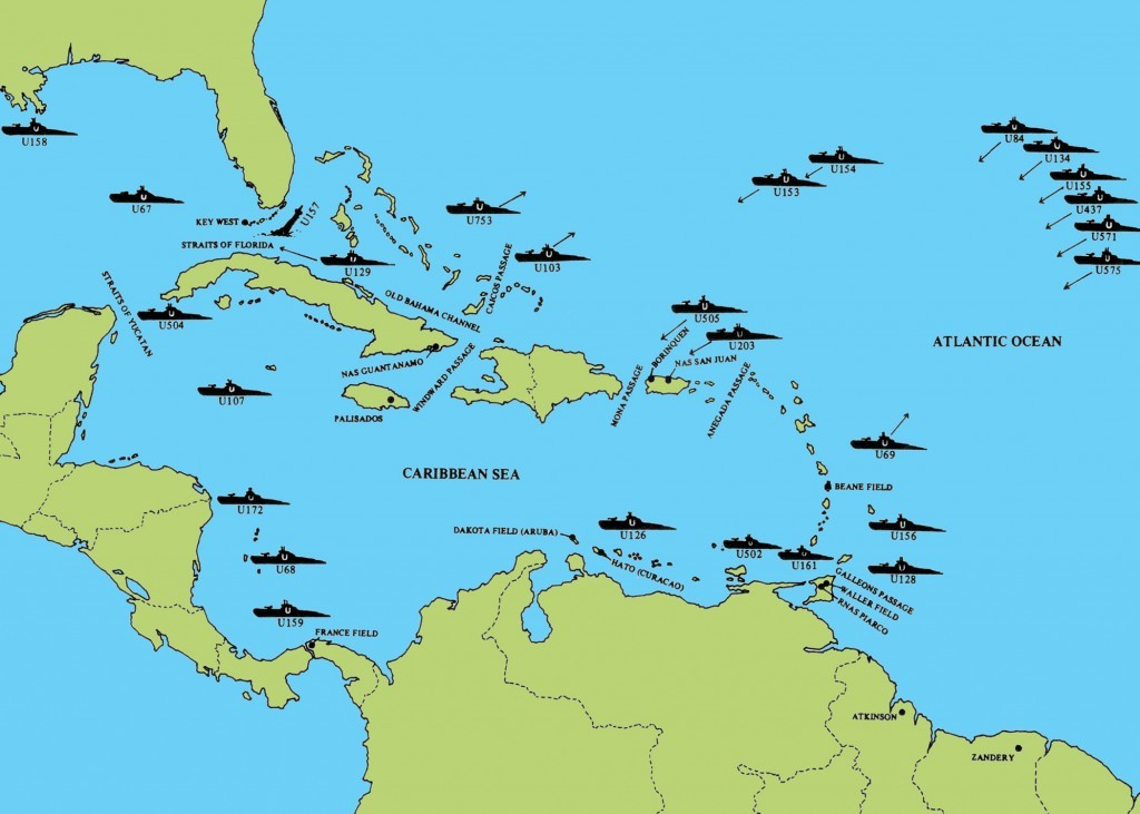 GERMAN U-BOATS IN THE CARIBBEAN 1942. BORINQUEN FIELD – RAMEY AIR FORCE BASE HISTORY