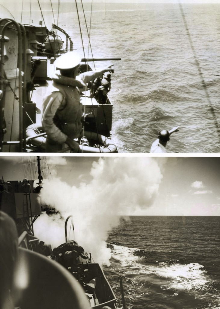 US DESTROYER ATTACKING U-BOAT IN THE CARIBBEAN 1942. BORINQUEN FIELD – RAMEY AIR FORCE BASE HISTORY