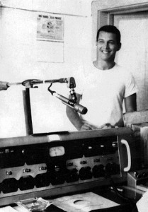 "Here, in the Ramey AFRTS radio control room, where I did the AFCN ""Morning Show"" in early 1967, it was warm and we frequently took off our 1505s shirt. I can't imagine ever being that young, or that slim!!"
